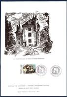 = Journée Du Timbre Brive La Gaillarde 7 Mars 1981 Gravure Château De Maumont 1er Jour N°2124 La Lettre D'amour De Goya - Other