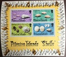Pitcairn Islands 1974 Shells Minisheet MNH - Coneshells