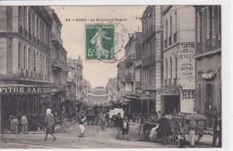 ALGERIE ORAN Le Boulevard Seguin ,façade Restaurant ,Pitre Bar ,attelage ,gendarme Dans La Rue - Oran