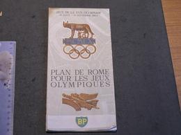 PLAN DE ROME  POUR LES JEUX OLYMPIQUES DE 1960 - Mapas Geográficas