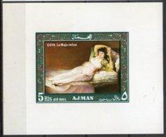 Manama Mi.  Block 35 B1 Aktgemälde Goya La Maja Nue **/MNH - Nudi