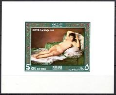 Manama Mi.  Block 35  Aktgemälde Goya La Maja Nue **/MNH - Nudi