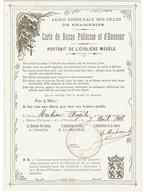 Frameries. Ecole Communale Des Filles. Carte De Bonne Politesse Et D'honneur. Année 1906. **** - Non Classés
