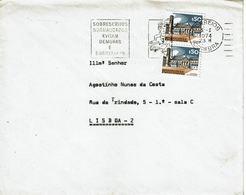 Commercial Cover  VITORINO PLANAS  , FABRICA DE PASSAMANARIAS  , Coimbra  , 1972 Slogan SOBRESCRITOS NORMALIZADOS ... - Postmark Collection