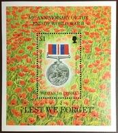 Tristan Da Cunha 1995 World War II Anniversary Minisheet MNH - Tristan Da Cunha