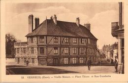 27 - VERNEUIL SUR AVRE - VIEILLE MAISON - PLACE THIERS ET RUE GAMBETTA - Verneuil-sur-Avre