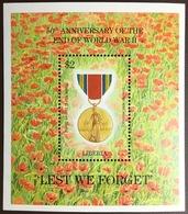 Liberia 1995 World War II Anniversary Minisheet MNH - Liberia