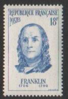 France Neuf Sans Charnière  1956  Célébrité Siences Physiques Politique Benjamin Franklin    YT 1085 - Nuevos
