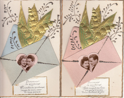 Fantaisie - Ancienne - Amour -  1er Mai - Carte Luxe - Lot De 5 - Other