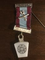 Medaglia Massoneria Inglese Medaglia Massonnica Vintage Inglese Ebraica Israele English Masonry - Royaux/De Noblesse