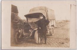 Carte-photo Camion Grande Guerre (?) - Camions & Poids Lourds