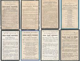 Middelkerke / 8x Doodsprent / Bidprent / Data Overlijden Tussen 1905 - 1928 - Devotieprenten