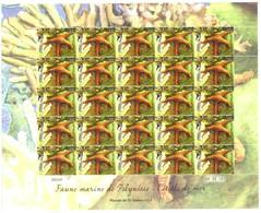 Polynésie Française Année 2013 Timbre 1029 Feuille Feuillet Faune Marine Journée Mondiale De L'océan étoile De Mer - Polynésie Française