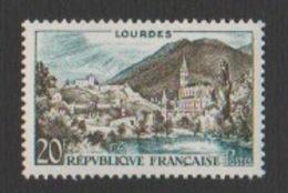 France Neuf Sans Charnière  1958 Série Touristique Ville Lourdes Paysage Pyrénées YT 1150 - Frankreich