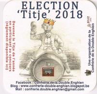 Sous-bock - Brasserie De Silly  - Confrérie De La Double Enghien - Election Titje 2018 - - Sous-bocks