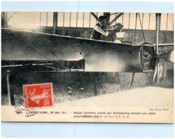 PARIS-ROME 28 MAIS 1911 - Biplan Sommer Piloté Par Kimmerling Faisant Son Plein D'automobiline D'huile D.F. - Meetings