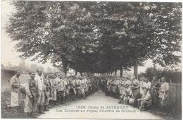 CAMP DE SATHONAY : LES ZOUAVES AU REPOS - France