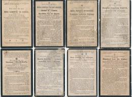 Oudegem / 8x Doodsprent / Bidprent / Data Overlijden Tussen 1899 - 1924 - Devotieprenten