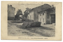 54-LEBEUVILLE-Café GRANDEMANGE - L'Eglise...1919 - Andere Gemeenten
