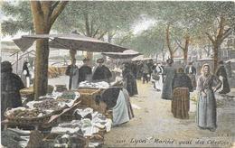 LYON : MARCHE QUAI DES CELESTINS - Lyon