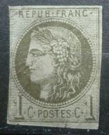 BORDEAUX N°39 B 1c Olive NEUF Sans GOMME Cote 200 Euro - 1870 Bordeaux Printing