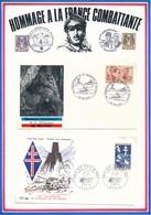 FRANCE - 2 ENVELOPPES 30EME ANNIVERSAIRE LIBERATION DE BELFORT OBLITERATION 23/24.11.1974 + BIR-HAKEIM/PARIS 07.10.1967 - Guerre Mondiale (Seconde)