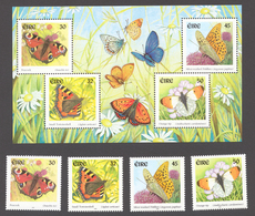 Ireland 2000 Mi# 1275-78+ Bl.36** BUTTERFLIES - 1949-... Republic Of Ireland