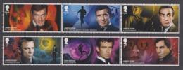GB 2020 JAMES BOND 007 FILMS CONNERY CRAIG BROSNAN DALTON MOORE SET MNH - Nuevos