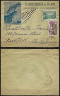 1936.GUYANE - TP.124+142 - Sur Enveloppe ILLUSTREE - CàD..ST GEORGES..(Petit Bureau). - Pour NEW.YORK - TB - RARE. - Guyane Française (1886-1949)