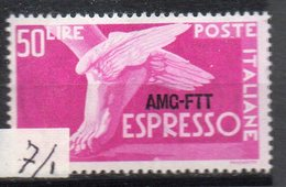 1952 Trieste A - Espresso N. 7/I Integro MNH** - 7. Trieste