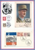 FRANCE - CARTE ANNIVERSAIRE DE LA LIBÉRATION DIJON 11.09.49 + ENVELOPPE ANNIVERSAIRE LIBÉRATION STRASBOURG 23.11.1964 - Guerre Mondiale (Seconde)