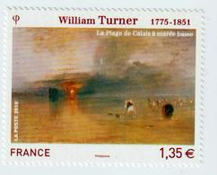"""TIMBRE -  2010  -  Série Artistique ,William Turner   -   N° 4438   -     """" La Plage De Calais""""      Neuf Sans Charnière - France"""