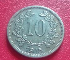 AUTRICHE 10 HELLER 1915 - Autriche