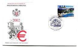 RC 16214 MONACO 2002 ANNÉE INTERNATIONALME DE LA MONTAGNE FDC 1er JOUR TB - FDC