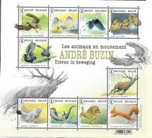 Belg. 2015 - COB N° 4497 à 4506 ** - Les Animaux En Mouvement - Du Bloc 225 - Belgium
