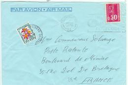 Bequet Avec Obliteration De SOUTHAMTON En Poste Restante Pour Dol De Bretagne - Postmark Collection (Covers)