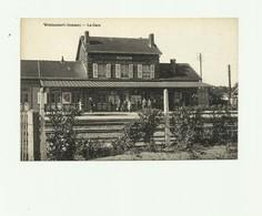80 - WOINCOURT - La Gare Animée Trés Bon état - Autres Communes