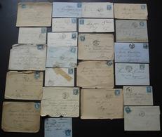 Lot De 23 Lettres, Cérès Et Napoléon, Différents états, Voir Photos De Détail - 1849-1876: Classic Period