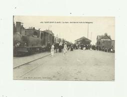 22 - SAINT QUAY - La Gare Arrivée Du Train De Guingamp Belle Animation Beau Plan Locomotive Trés Bon état - Saint-Quay-Portrieux