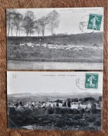 2 Cartes Postales Anciennes BUGEAT : Le Retour à La Bergerie / Vue Générale - France