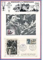 FRANCE - CARTE OBLI COMBATS DU VERCORS 07.1984 + ENVELOPPE OBLI ANNIVERSAIRE DE LA LIBERATION PARIS 25/26.08.1984 - Guerre Mondiale (Seconde)