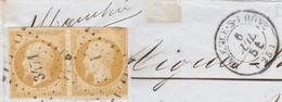 N° 13A    PC  3471  VALENCE-sur-RHONE  (25)  DROME  - 6 JUIL 1854  - REF 9633 - 1853-1860 Napoléon III
