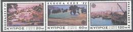 1977 Europa C.E.P.T., Cipro, Serie Completa Nuova (**) - 1977