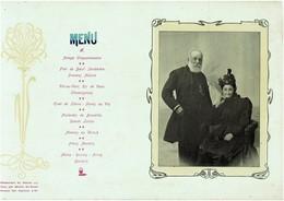1901 - Menu M. & Mme J.-B. De Tournay - Restaurant Du Casino - Martin De Groef - Avenue Des Eperons D'Or Bruxelles - Menus