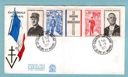 FDC France 1971 - Hommage Au Général De Gaulle - YT 1698A - Paris - 1970-1979