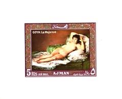 Ajman/Adschman Block   Goya  Die Nackte Maja  Aktgemälde  **/MNH - Nudes