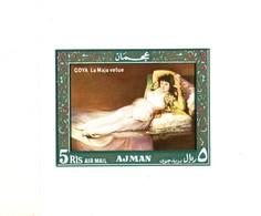 Ajman/Adschman Block   Goya  Die Bekleidete Maja  **/MNH - Nudi