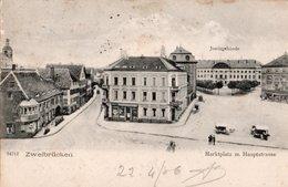 ZWEIBRUCKEN ( Allemagne  ) - Markplaz Und M. Haupstrasse . - Zweibruecken