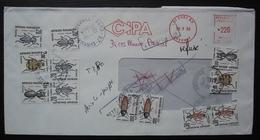 Evry 1986 Lettre CIPA Taxée Insectes, Refusée, Retour à L'envoyeur - Postmark Collection (Covers)