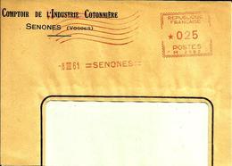 Lettre Flamme EMA Havas M  Comptoir De L'industrie Cotonniere Textile  Senones 88  C9/7 - Marcophilie (Lettres)